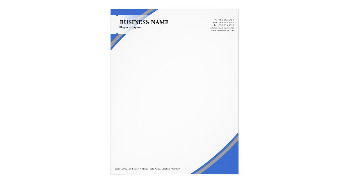 Professional Letterhead  Zazzle
