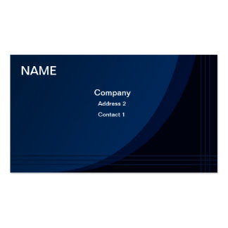 Professional Business Card Blue Wave