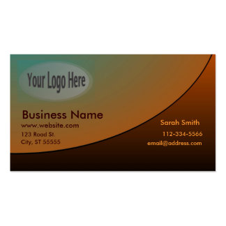 Professional Business Card Copper Shades with Logo