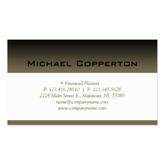Professional Business Card Financial Planner
