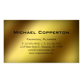 Professional Business Card Financial Planner Gold