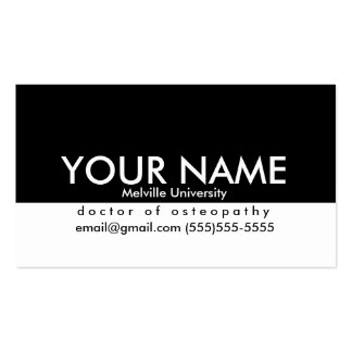 Professional Business Card for Students