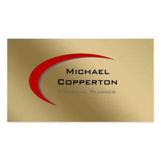 Professional Business Card Logo Red Curve Gold