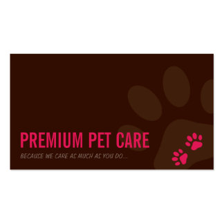 PROFESSIONAL BUSINESS CARD pet care