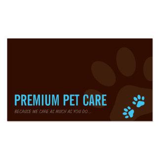 PROFESSIONAL BUSINESS CARD pet care aqua blue