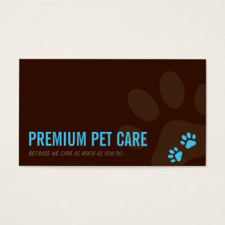 PROFESSIONAL BUSINESS CARD pet care aqua blue
