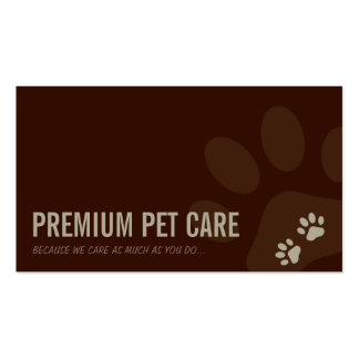 PROFESSIONAL BUSINESS CARD pet care latte brown