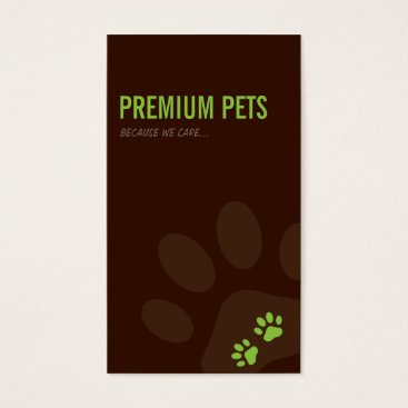 Professional Business PROFESSIONAL BUSINESS CARD pet care lime green