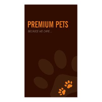 PROFESSIONAL BUSINESS CARD pet care orange