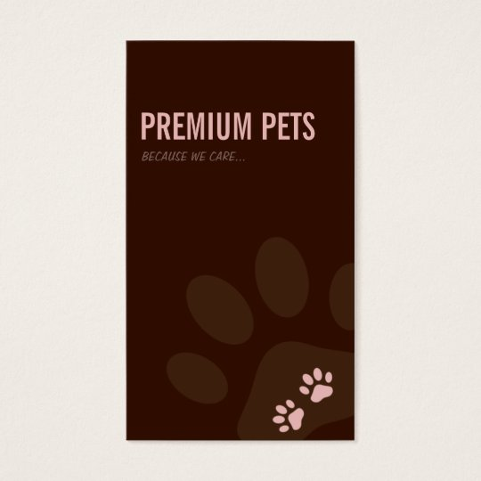 PROFESSIONAL BUSINESS CARD pet care pale pink
