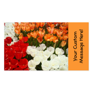 Professional Business Cards Nature Tulips Flowers
