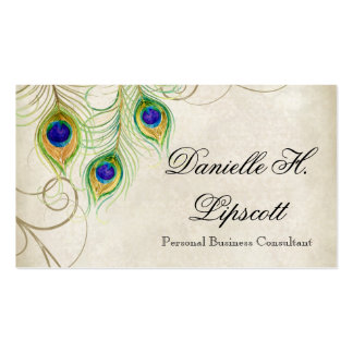 Professional Business Cards - Peacock Feathers