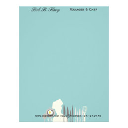 Professional Business Chef with Hat Kitchen Letterhead