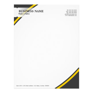 Professional Business Grey Yellow Letterhead