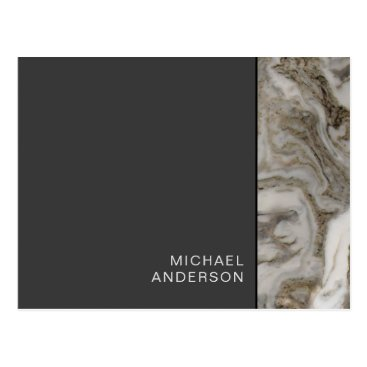 Professional Business Professional Business Mailer Black and Marble Postcard