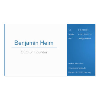 Professional Businesses visiting cards Blue White Business Card