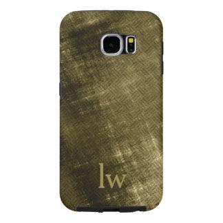 Professional but Grungy Tweed look men's monogram Samsung Galaxy S6 Cases
