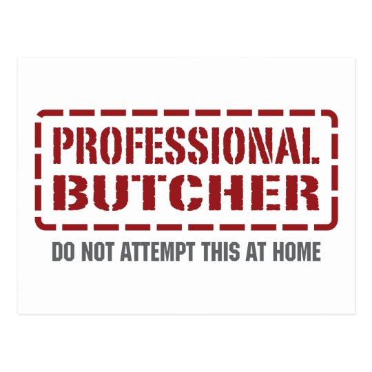 Professional Butcher Postcard