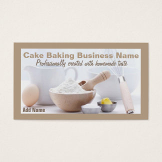 Professional Cake Baking Business Cards