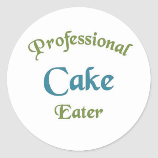 Professional cake eater classic round sticker