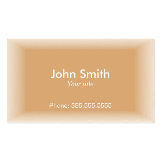 Professional Cappuccino Color Effect Business Card