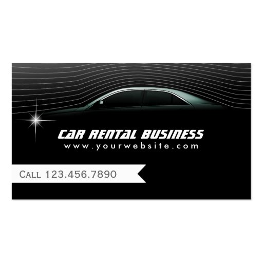 Professional Car Hire/Limo Service Business Card