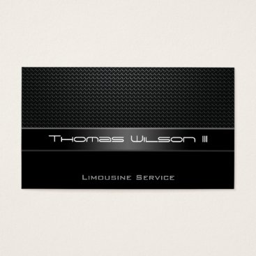 Aztec Themed Professional Carbon Fiber Limo Business Cards