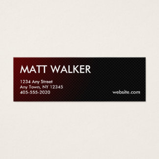 Professional Carbon Fiber red business cards