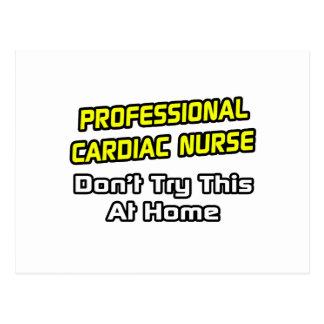 Professional Cardiac Nurse .. Joke Postcard