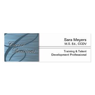 Professional Career Business Card - Monogram Blue
