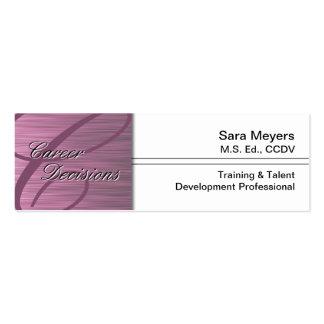 Professional Career Business Card Monogram Pink