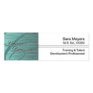 Professional Career Business Card - Monogram Teal