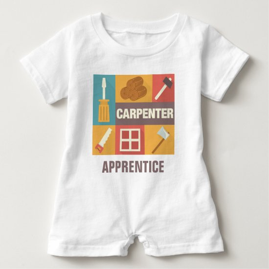 Professional Carpenter Iconic Designed Baby Romper