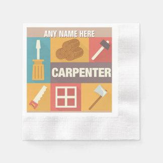 Professional Carpenter Iconic Designed Paper Napkin