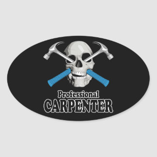 Professional Carpenter Oval Stickers