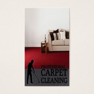 Professional Carpet Cleaning Service Business Card