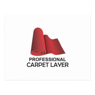PROFESSIONAL CARPET LAYER POSTCARD