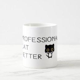 PROFESSIONAL CAT PETTER COFFEE MUG