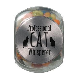Professional Cat Whisperer Glass Jars