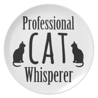 Professional Cat Whisperer Plates