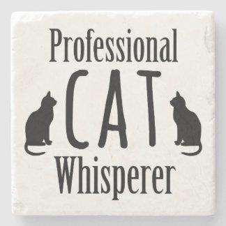 Professional Cat Whisperer Stone Coaster