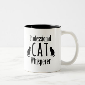 Professional Cat Whisperer Two-Tone Coffee Mug