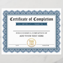 Professional Certificate of Completion - Your Logo