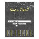 """Professional Chalkboard Search Bar Math Tutor 4.5"""" X 5.6"""" Flyer"""