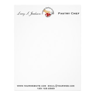 Professional Chef & Baker Letterhead Template