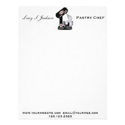 Professional Chef & Baker Letterhead Template