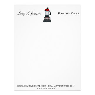 Professional chef letterhead zazzle professional chef amp baker letterhead template pronofoot35fo Images