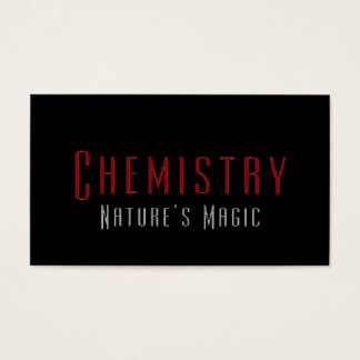 Professional Chemist Chemistry Business Cards