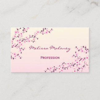 Professional Cherry Blossom Business Card