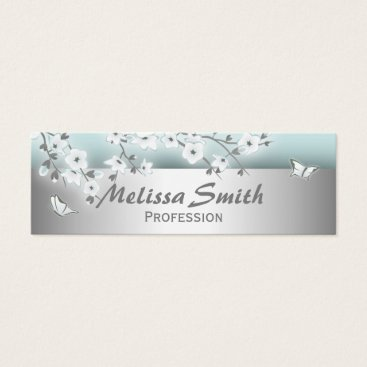 Professional Business Professional Cherry Blossoms Mini Business Card